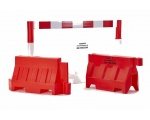 Temporary road barriers and traffic separators direct from factory