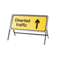 Rectangular Temporary UK Road Signs 1050mm x 450mm