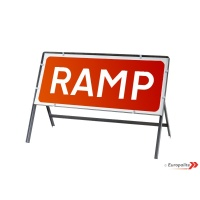 Ramp - Metal Road Sign Face With Frame & Clips