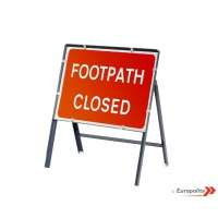 Footpath Closed - Metal Sign Face With Frame & Clips