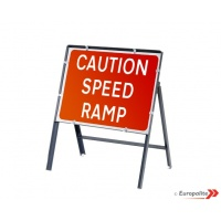 Caution Speed Ramp - Metal Framed UK Temporary Road Sign