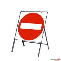No Entry - Metal Sign Face With Frame & Clips
