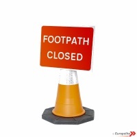 Footpath Closed Cone Sign Road Sign