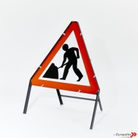 Metal Framed UK Road Signs - 750mm