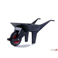 Plastic Wheelbarrow With Pneumatic Tyre