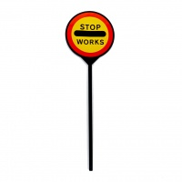 Hand held stop go lollipop signs