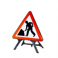 V-Sign - Portable 750mm UK Temporary Road Signs