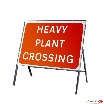 Heavy Plant Crossing - Metal Sign Face with Frame & Clips
