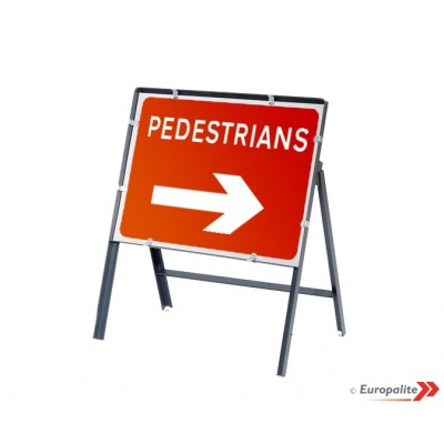 Pedestrian Right - Metal Framed UK Temporary Road Sign