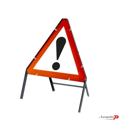 Other Danger Triangular Metal Road Sign With Frame & Clips