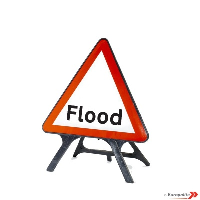 Flood Road Sign: V-Sign